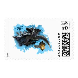 Lagiacrus chasing Hunter Postage