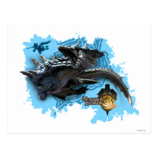 Lagiacrus chasing Hunter Postcard