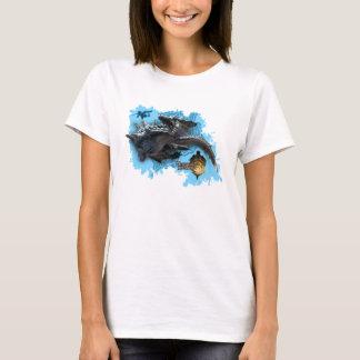 Lagiacrus chasing Hunter T-Shirt