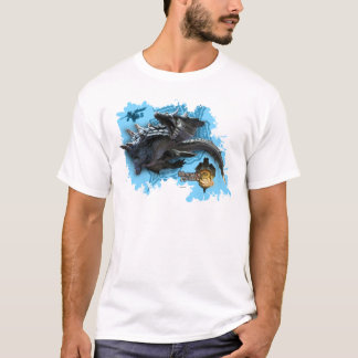 Lagiacrus chasing Hunter T-Shirt