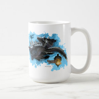 Lagiacrus que persigue al cazador taza de café