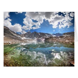 Lago 2 consultation - rastro del Mt Whitney Tarjeta De Felicitación Grande