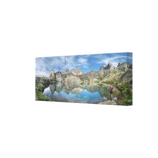 Lago 2 - desierto de Ansel Adams - Sierra minaret Impresión En Lienzo