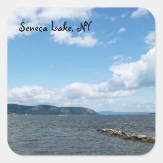 Lago 2 Seneca Pegatina Cuadrada