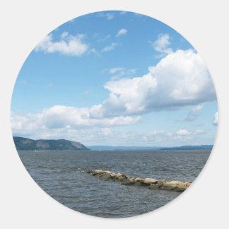 Lago 2 Seneca Pegatina Redonda
