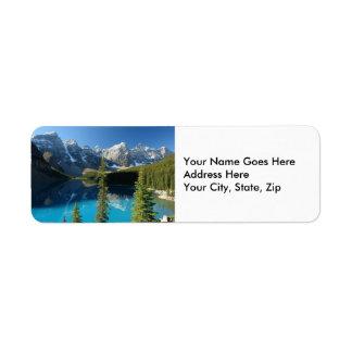 Lago 3 moraine etiquetas de remite