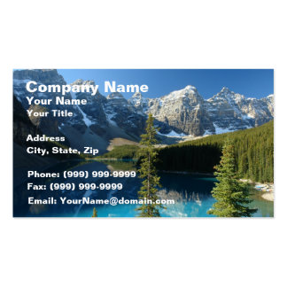 Lago 3 moraine plantilla de tarjeta de negocio