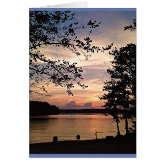 Lago Acworth, puesta del sol del GA Tarjeta De Felicitación