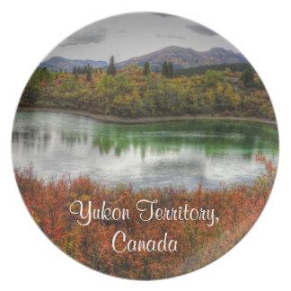 Lago afortunado; Recuerdo del territorio del Yukón Plato De Cena
