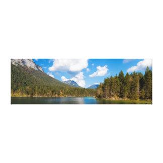 Lago alpino Hintersee, Ramsau, Berchtesgaden Natio Impresiones En Lona