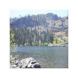 Lago alta mountain en California Lienzo Envuelto Para Galerías