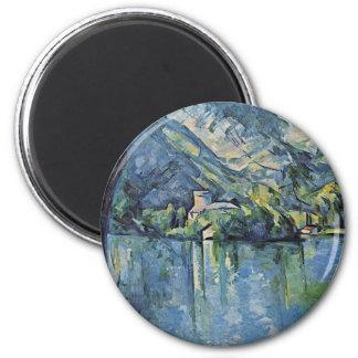 Lago Annecy de Paul Cézanne la mejor calidad Imanes