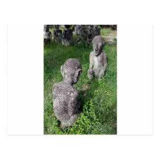 Lago antiguo Toba Sumatra de las estatuas de Batak Tarjeta Postal