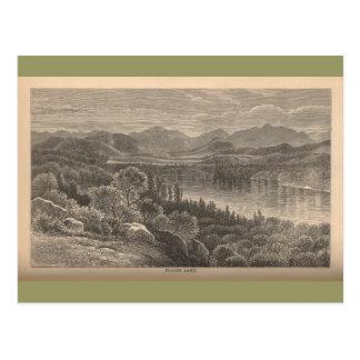 Lago apacible tarjeta postal