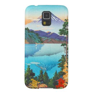 Lago Ashi Tsuchiya Koitsu en las colinas de Hakone Fundas De Galaxy S5