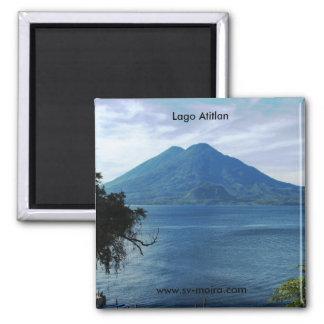 Lago Atitlan 2 Inch Square Magnet