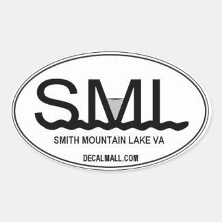 Lago auto Virginia mountain de Smith de la Pegatina Ovalada
