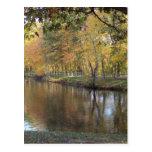 Lago autumn tarjeta postal