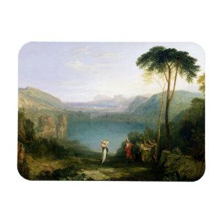 Lago Avernus: Aeneas y la sibila de Cumaean, c.181 Iman De Vinilo