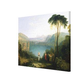 Lago Avernus: Aeneas y la sibila de Cumaean, c.181 Impresiones En Lona