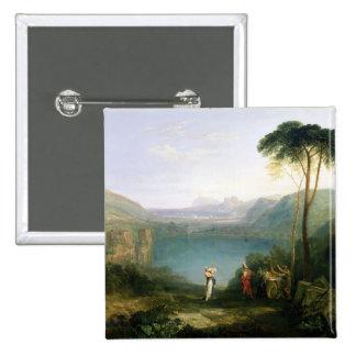 Lago Avernus: Aeneas y la sibila de Cumaean, c.181 Pin Cuadrada 5 Cm
