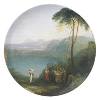 Lago Avernus: Aeneas y la sibila de Cumaean, c.181 Platos Para Fiestas