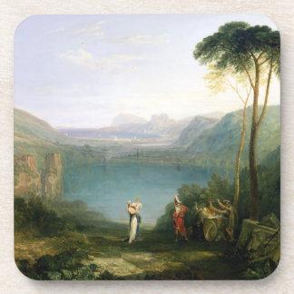 Lago Avernus: Aeneas y la sibila de Cumaean, c.181 Posavasos De Bebida
