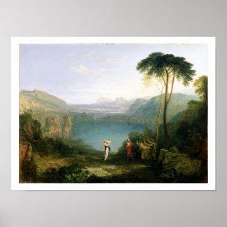 Lago Avernus: Aeneas y la sibila de Cumaean, c.181 Póster