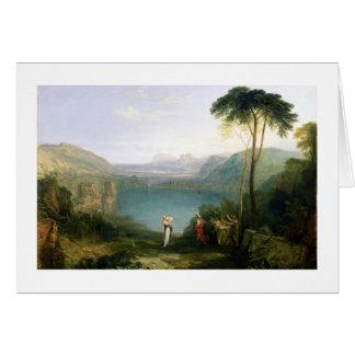 Lago Avernus: Aeneas y la sibila de Cumaean, c.181 Tarjeta De Felicitación