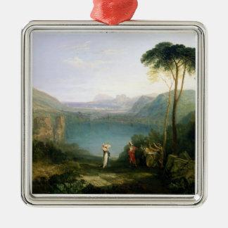 Lago Avernus: Aeneas y la sibila de Cumaean, Adorno Cuadrado Plateado