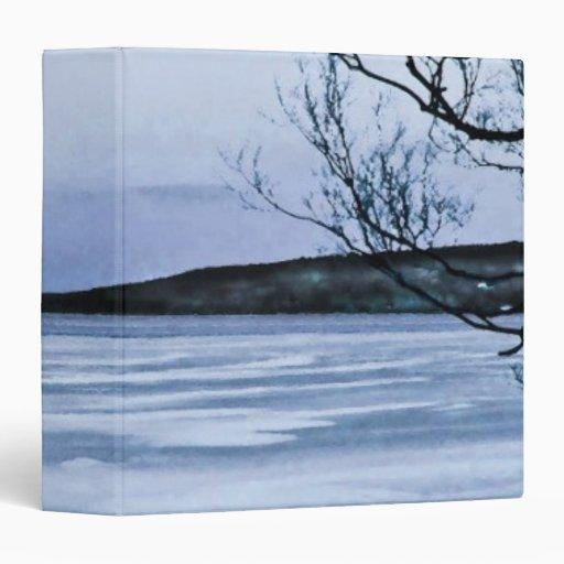 "Lago azul congelado carpeta 1 1/2"""