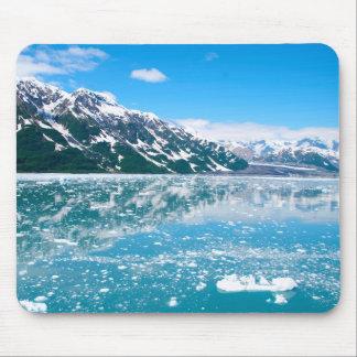 Lago azul congelado tapete de raton