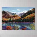 Lago bear de Colorado del parque de Estes y pico l Poster
