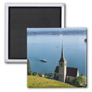 Lago Biel Suiza Imán Cuadrado