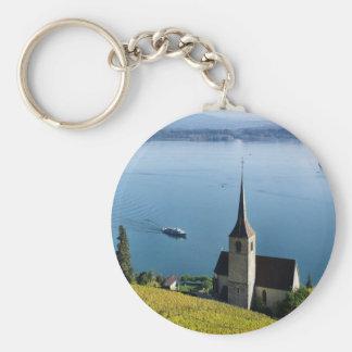 Lago Biel Suiza Llavero Redondo Tipo Pin