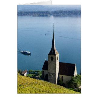 Lago Biel Suiza Tarjeta De Felicitación