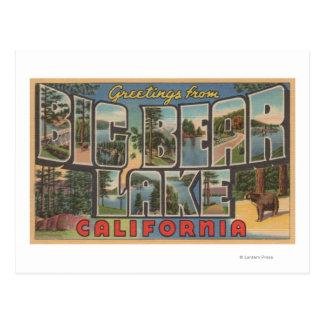 Lago big Bear, California - escenas grandes de la Postal