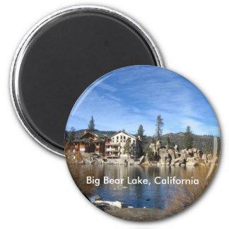 Lago big Bear, California Imán Redondo 5 Cm