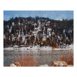 Lago big Bear, nieve del invierno Poster