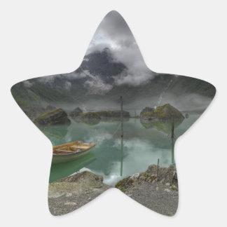 Lago Bondhus Noruega Calcomania Forma De Estrella