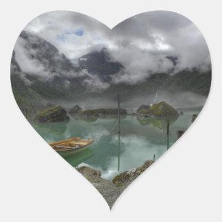 Lago Bondhus Noruega Pegatina Corazon Personalizadas