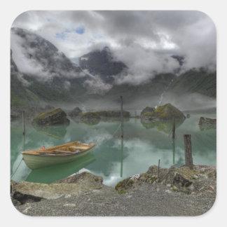 Lago Bondhus Noruega Calcomanía Cuadradas Personalizada