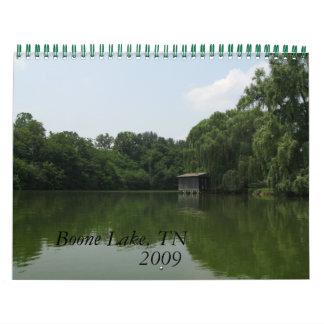 Lago Boone, 2009 - modificado para requisitos part Calendario