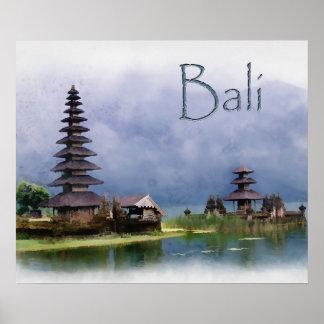 Lago Bratanan Bali Indonesia Póster