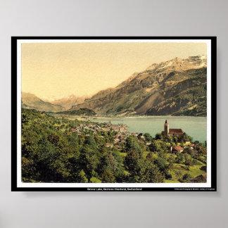 Lago Brienz, Bernese Oberland, Suiza Póster