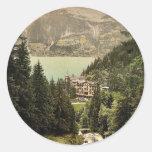 Lago Brienz, hotel Giessbach, Bernese Oberland, Pegatina Redonda