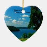 Lago Brookville, el condado de Franklin Indiana Ornaments Para Arbol De Navidad