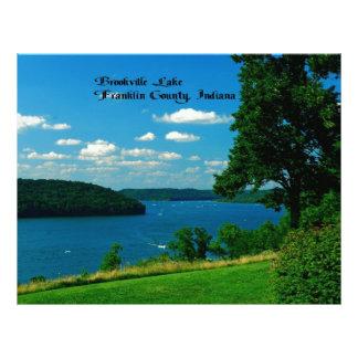 Lago Brookville, el condado de Franklin Indiana Membretes Personalizados