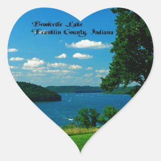Lago Brookville, el condado de Franklin Indiana Colcomanias Corazon Personalizadas