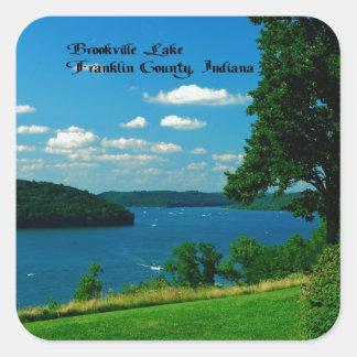 Lago Brookville, el condado de Franklin Indiana Calcomanía Cuadradas
